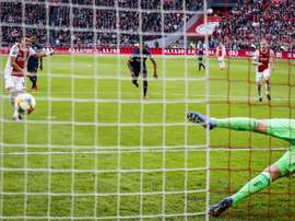 Dusan Tadic scored the penalty which put Ajax 2-1 up. Twitter/AFCAjax
