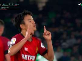 Kubo marcó el 3-3. Captura/Movistar