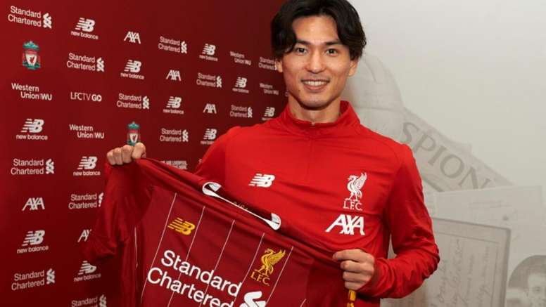 Minamino is 'red'. LiverpoolFC