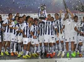 Talleres celebra el ascenso tras ganar a River Plate. Twitter