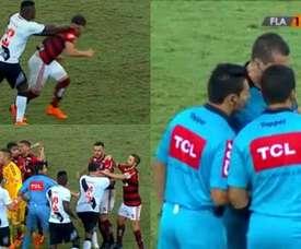Lamentables imágenes en un derbi en Brasil. Captura/beINSports