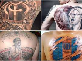 Tatouages Madrid, River, Borussia, Racing. BeSoccer