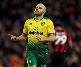 Pukki dio la victoria al Norwich. Twitter/NorwichCityFC