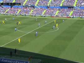 Ter Stegen se veste de Messi e Suárez abre o placar. Captura/Movistar+LaLiga