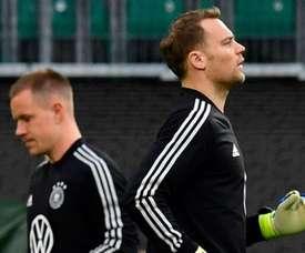 Débat dans les buts de l'Allemagne. AFP