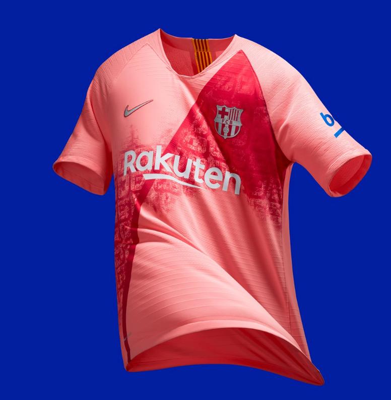 Pin El Barça lucirá esta llamativa camiseta en la que hace homenaje a la  Ciudad Condal. ac4b9290cd743