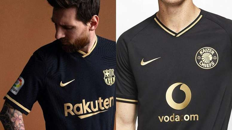 The same kit? FCBarcelona/KaizerChiefs