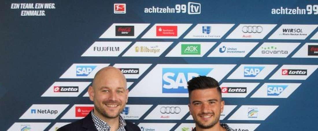 Terrazzino sólamente ha disputado un partido en el Hoffenheim. Hoffenheim
