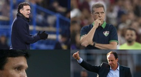Terremoto derruba quatro treinadores do Brasileirão em 24 horas. Montagem Goal/EFE