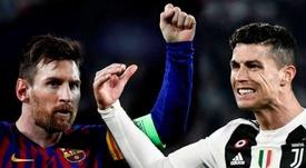 Quem leva mais gols: CR7 ou Messi. AFP/EFE
