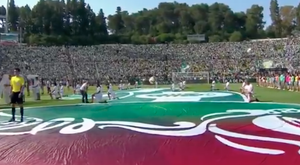 The ball appeared to levitate prior to the Portuguese Cup final. Twitter/BallStreet