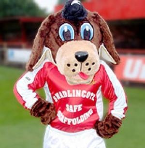 The Gresley mascot. GresleyFC