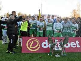 The New Saints está a un triunfo de batir el récord de victorias del Ajax de Cruyff. TNS