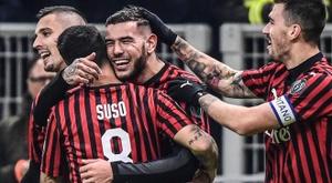 Théo Hernández entre déjà dans l'histoire de l'AC Milan. AFP