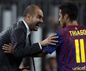 Thiago elege o colega mais talentoso da base do Barcelona. EFE