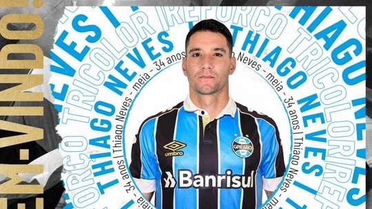 Thiago Neves é o novo reforço do Grêmio. Twitter Gremio
