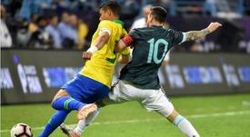 Thiago Silva critica Messi. AFP