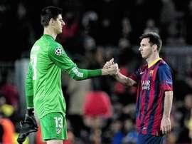 Messi n'impressionne plus Courtois. EFE