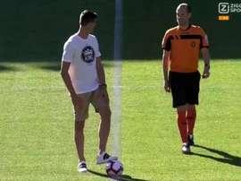 El guardameta habló de su traspaso al Real Madrid. Captura/ZiggoSport