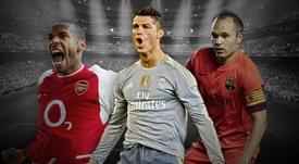 UEFA elaborou o onze ideal da história da Champions League. AFP