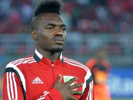 Thievy, internacional con el Congo, encabezó la remontada ante Etiopía. Twitter.
