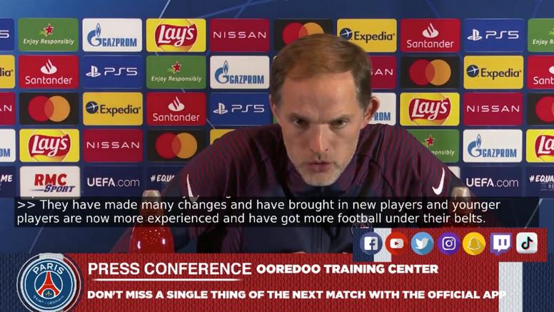 Tuchel habló en rueda de prensa del PSG-Manchester United. Captura/PSG