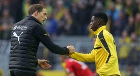 Dembélé talked to Tuchel on the phone and declined his offer to come to PSG. AFP