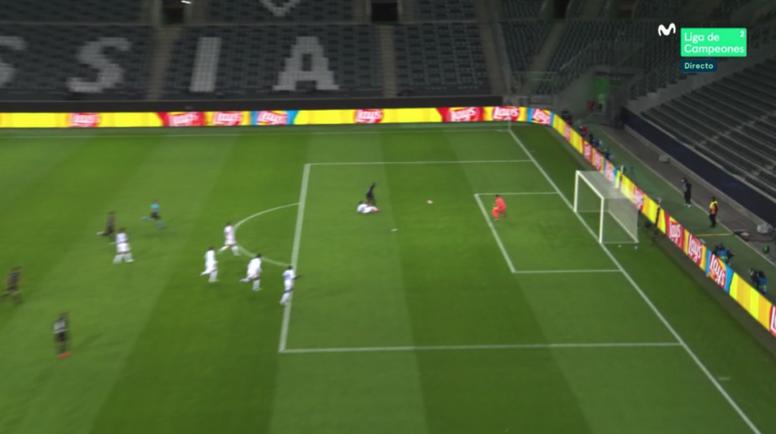 El 'Gladbach marcó primero frente al Real Madrid. Captura/MovistarLigaDeCampeones
