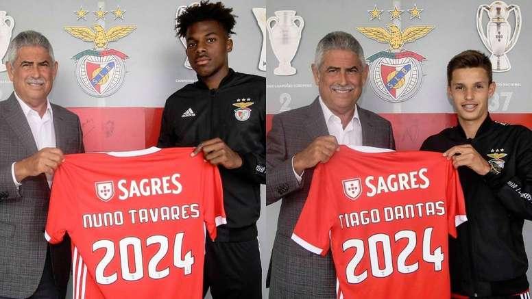 Benfica continua a renovação com as suas pérolas. Twitter/SLBenfica
