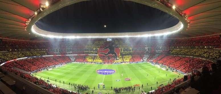 L'Atlético prépare un Wanda des grands soirs pour la Ligue des Champions. Twitter/TifoMakers82
