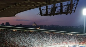 Red Star Belgrade fans spark controversy by bringing tank to stadium. CrvenaZvezdaFK