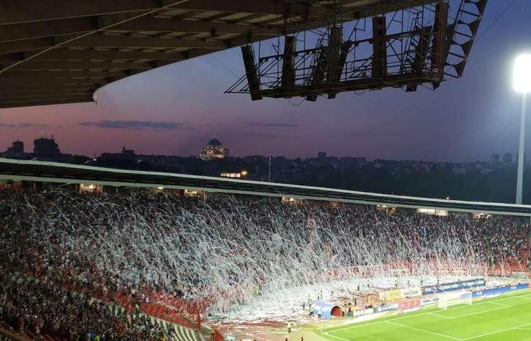 Red Star Belgrade fans spark controversy by bringing tank to stadium. CrvenaZvezdaFK