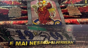O incrível duelo de torcidas entre Inter e Milan. Capturas/Movistar