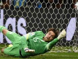 Todo el mundo recuerda su inesperada y sorprendente tanda de penaltis contra Costa Rica. AFP
