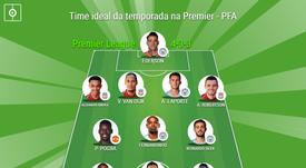 Time ideal da temporada na Premier - PFA. BeSoccer