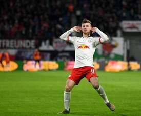 Werner à deux doigts de signer à Chelsea. Twitter/DieRotenBullen