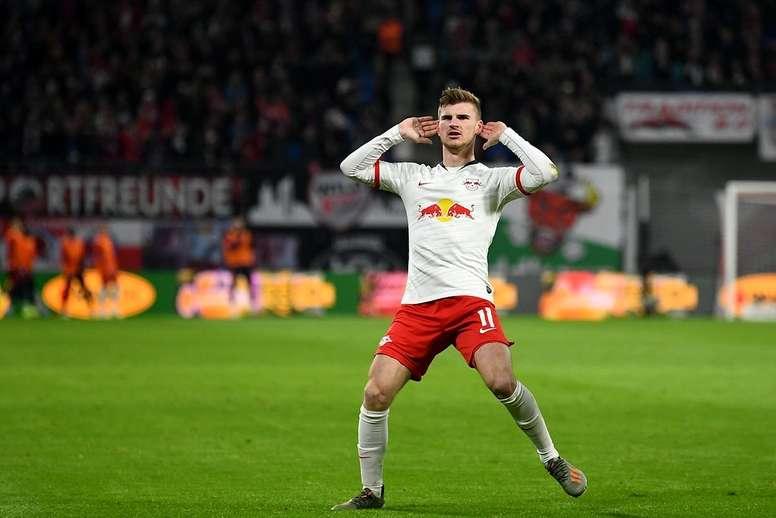 As dúvidas do Liverpool sobre Werner. Twitter/DieRotenBullen