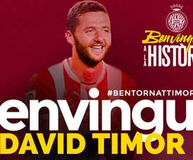 Timor est un nouveau joueur de Gérone. GironaFC