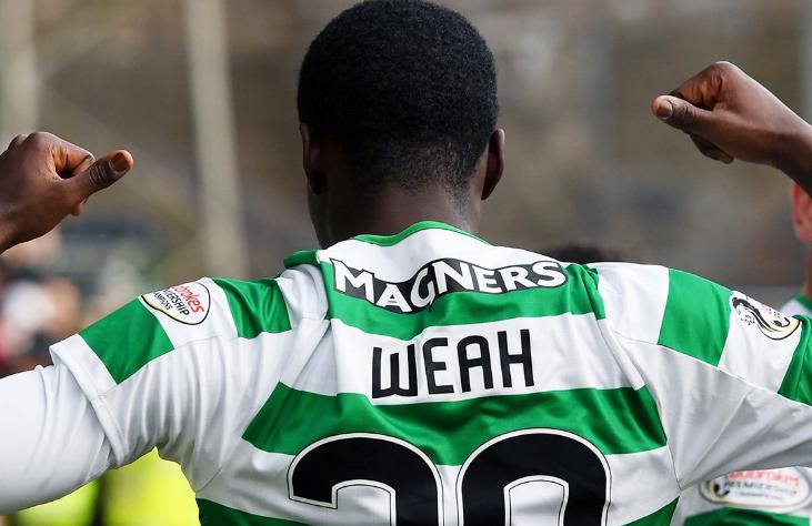 Weah, decisivo para el Celtic de Glasgow. CelticFC