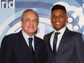 Rodrygo será apresentado nesta terça pelo Real Madrid. RealMadrid