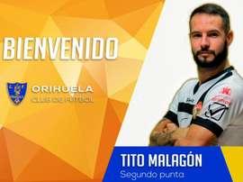 Tito Malagón llega con ilusión al Orihuela. Twitter/Orihuela_CF