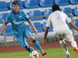 Tkchuck logró marcar 3 goles en la prórroga y meter al Zenit en los dieciseisavos de la Copa rusa. Twitter.