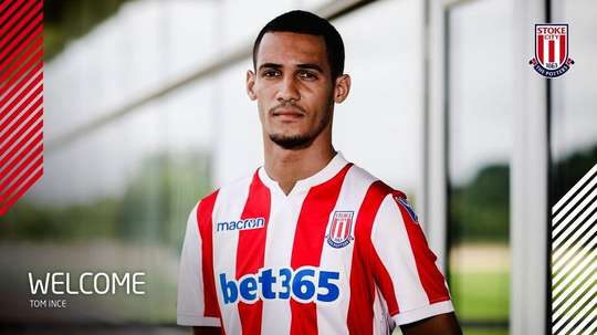 Ince has once again dropped down to the Championship. Twitter/StokeCity