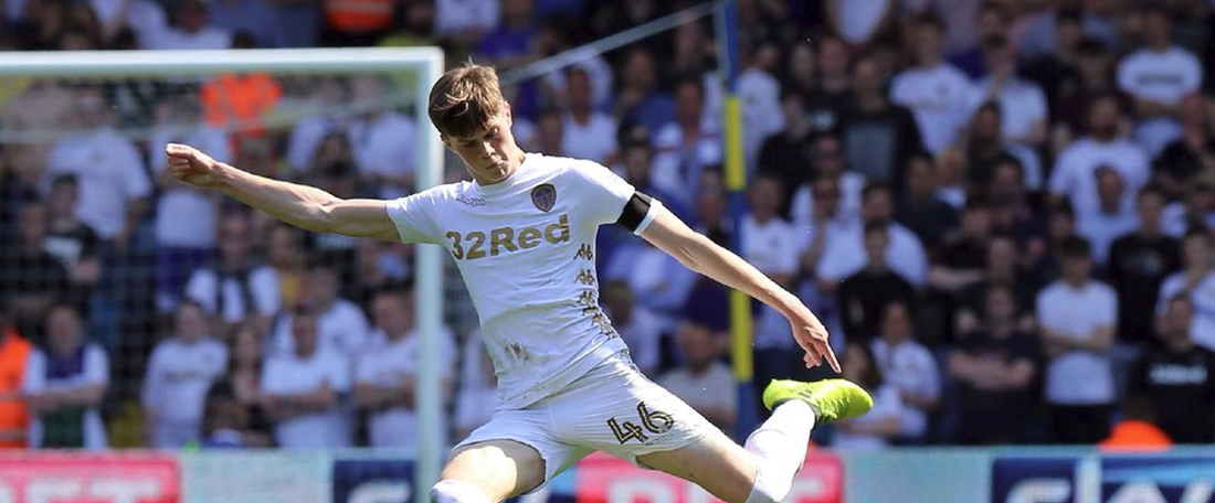 Pearce signed on to another four years at Elland Road. Twitter/LUFC