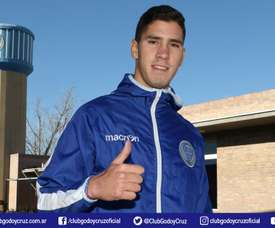 El ex de San Lorenzo ya luce la camiseta del 'Tomba'. GodoyCruz