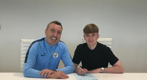 City young gun Tommy Doyle has signed his first professional deal with the club. Twitter/Tommydoylem