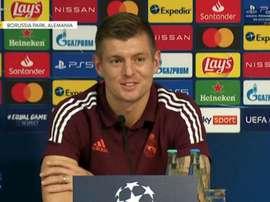 Kroos fue el elegido para dar la rueda de prensa en Alemania. Captura/RealMadridTV