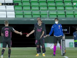Kroos se fue lesionado. Captura/MovistarLaLiga