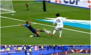 Toni Kroos put Germany 1-0 up against France. Captura/Cuatro