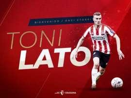 Toni Lato prêté au Osasuna. Osasuna
